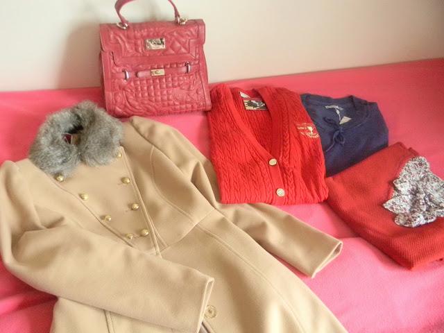 indirimli manto, çanta, kazak,