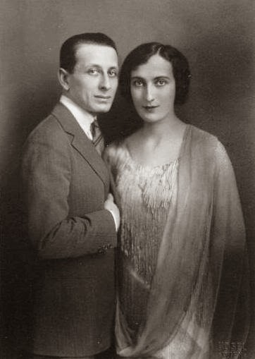 Alexandre Tansman with his first wife Anna Eleonora Brociner