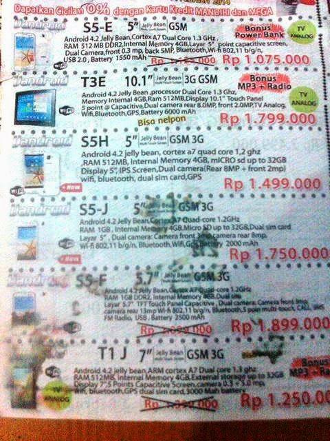 gambar brosur harga advan vandroid 2014