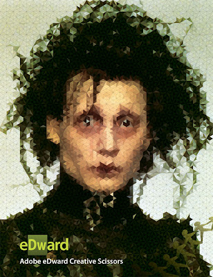 edward scissorhands Adobe Mosaic Collection (A small selection of vector protraits, inspired by Adobe logos.)