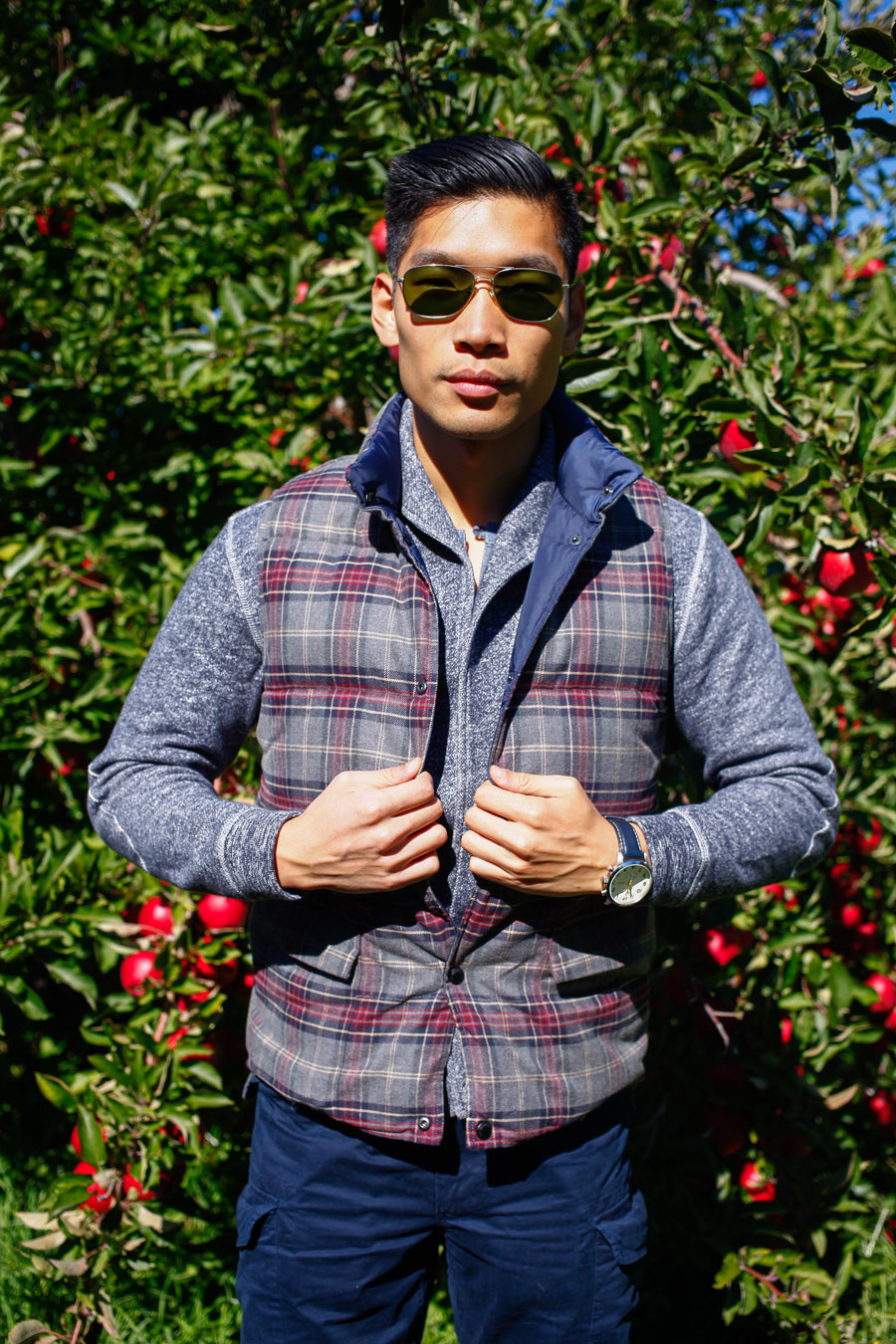 Levitate Style, Apple Picking, Fall Layering, Weekend Casual, Grayers, Leo Chan