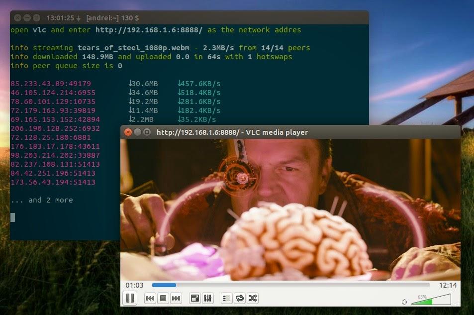 Peerflix Ubuntu VLC