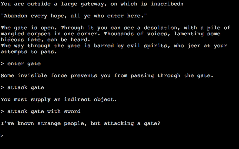 Browser Rousers: Zork