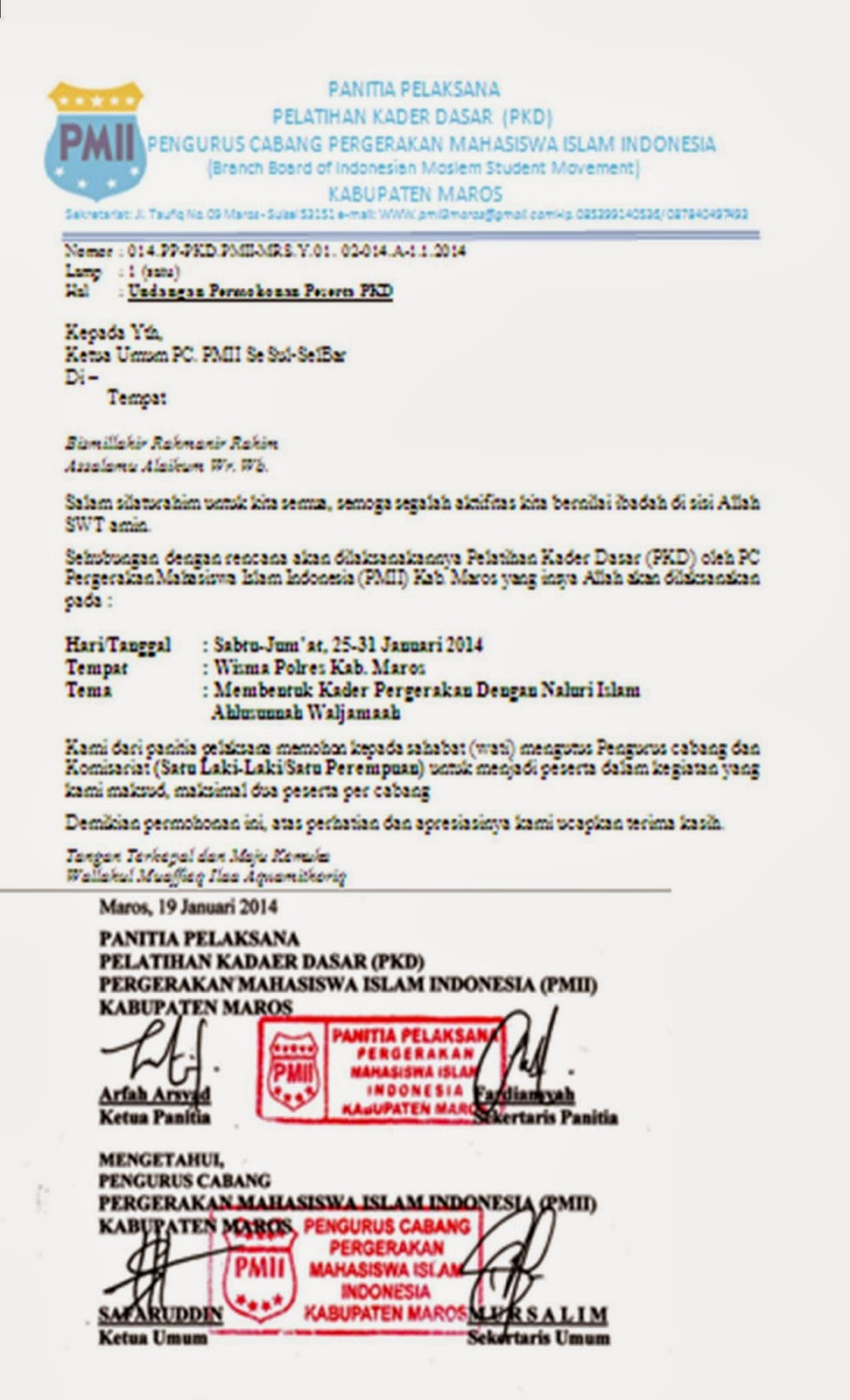 PC. PMII Gowa - Sulawesi Selatan: Ikuti Kegiatan PKD PMII ...