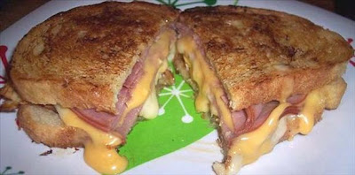 Grilled Cheese Ham and Egg Sandwich Recipe | Healthy Cheese Ham Egg Recipe