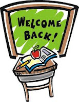 Welcome back school sign