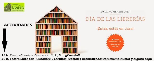 libreria codex dia de las librerias orihuela 29 de noviembre