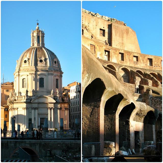 Kościół Santa Maria di Loretto oraz Koloseum