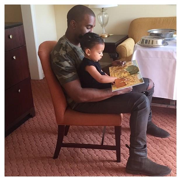 Kanye West e a filha