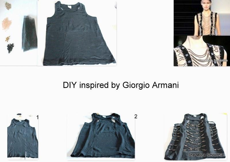 diy, craft, fai da te, Giorgio Armani, Giorgio Armani top