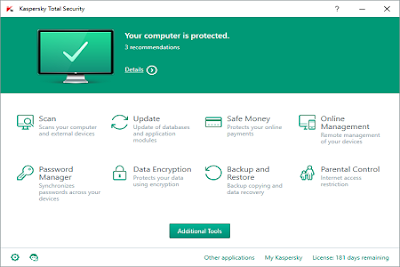 Antivirus Kaspersky Total Security 2016 for PC