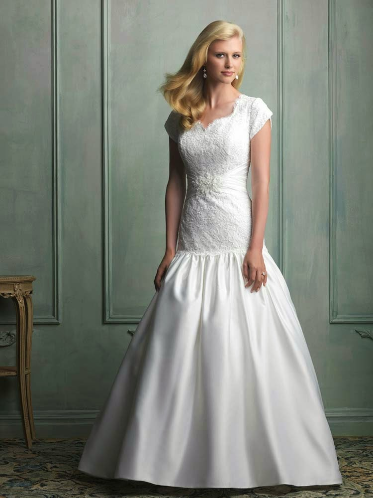 Modest Wedding Dresses Cap Sleeves Salt Lake City Design pictures hd