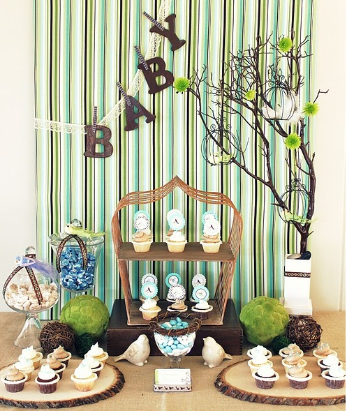 Party frosting bird baby shower party ideas inspiration for Bird themed bathroom accessories
