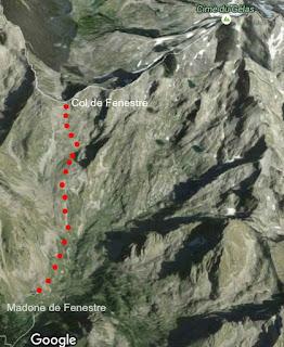 Image of trail from Madone de Fenestre to Col de Fenestre