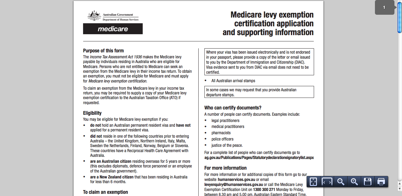How To Apply For Medicare Levy Exemption Certificate Solution