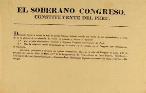 Bando del Primer Congreso Constituyente Declarando Haberse Instalado, Residiendo en él la Soberanía