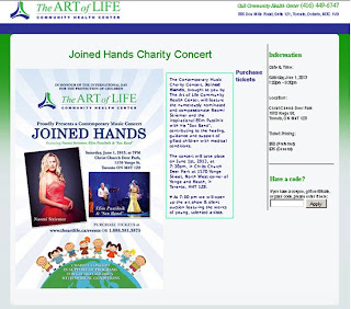 Joined Hands - Contemporary Music Charity Concert, June 1, 2013, Toronto, Art of Life, screenshot