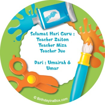 This is our story selamat hari guru sticker