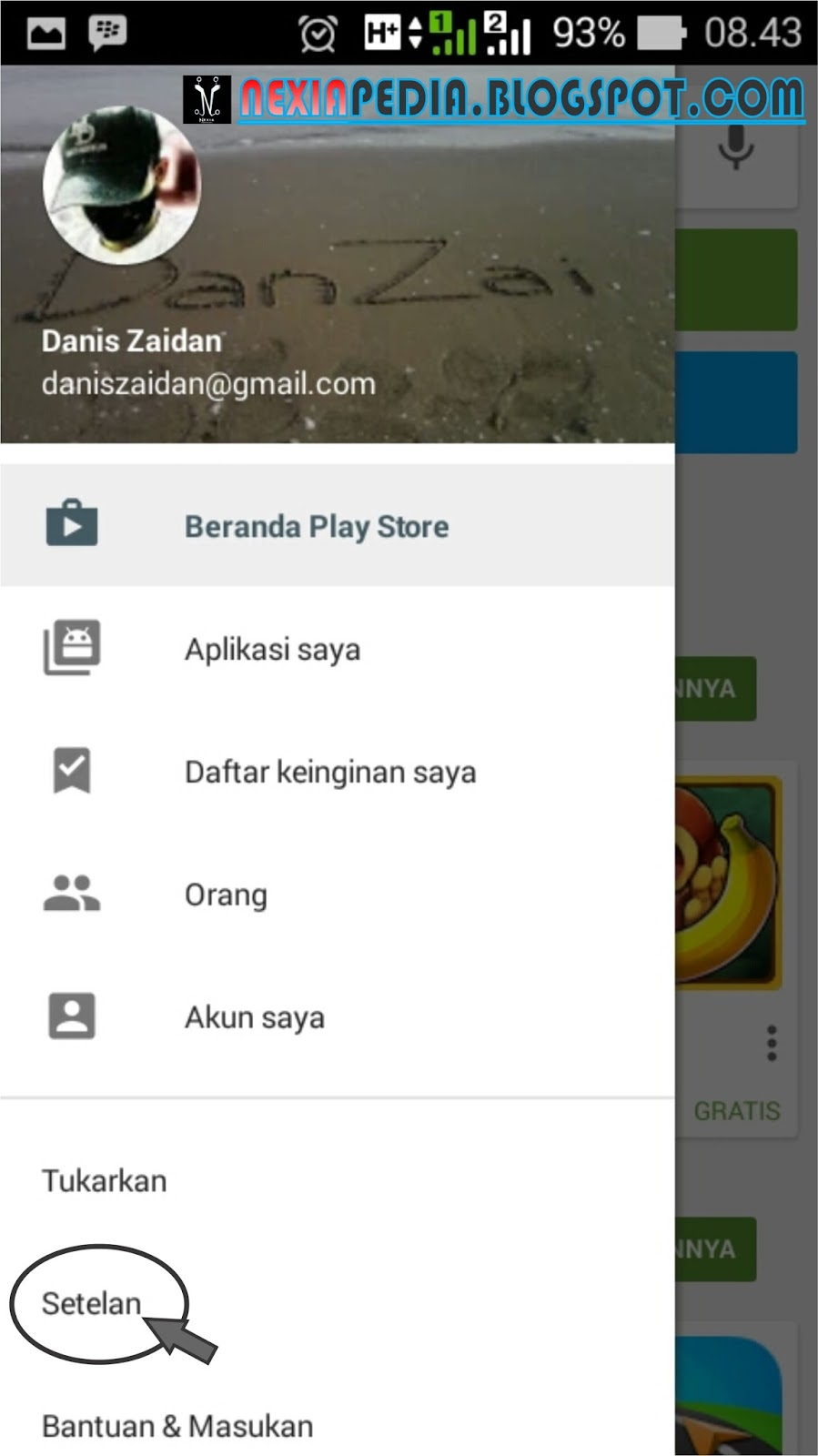 how to delete aearch history in play store