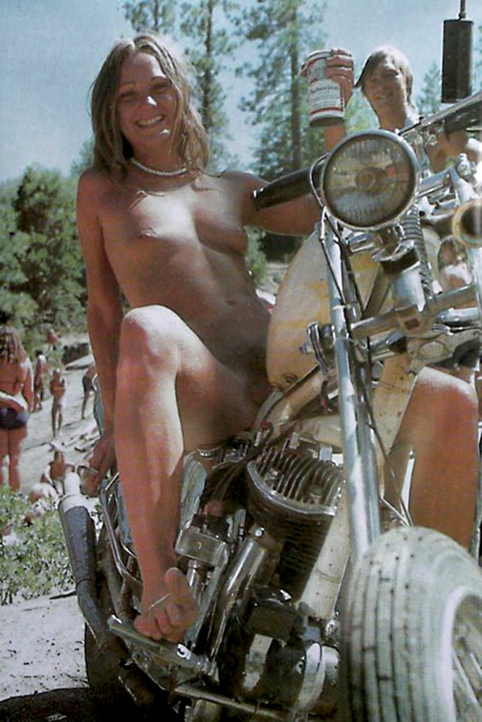 Nude biker girls in public