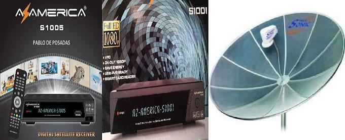 Configurar S1001 e S1005 para pegar os canais da banda C...24/06/2014