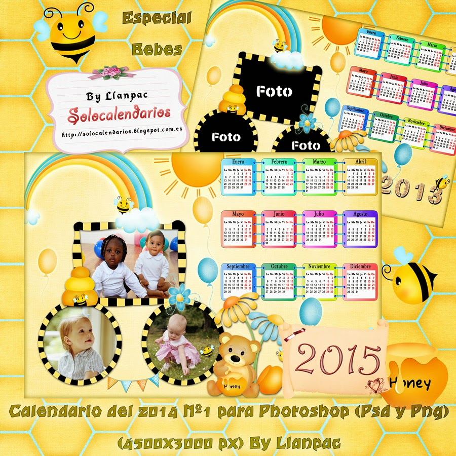 Calendarios Para Photoshop Plantilla Base Para   apexwallpapers.com ...
