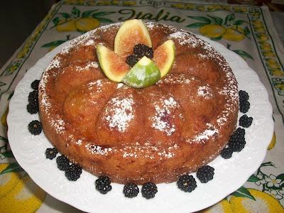 torta morbida con fichi
