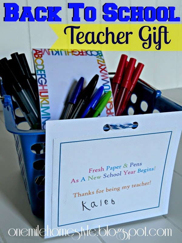 Back to School Teacher Gift Basket - Paper and Pens