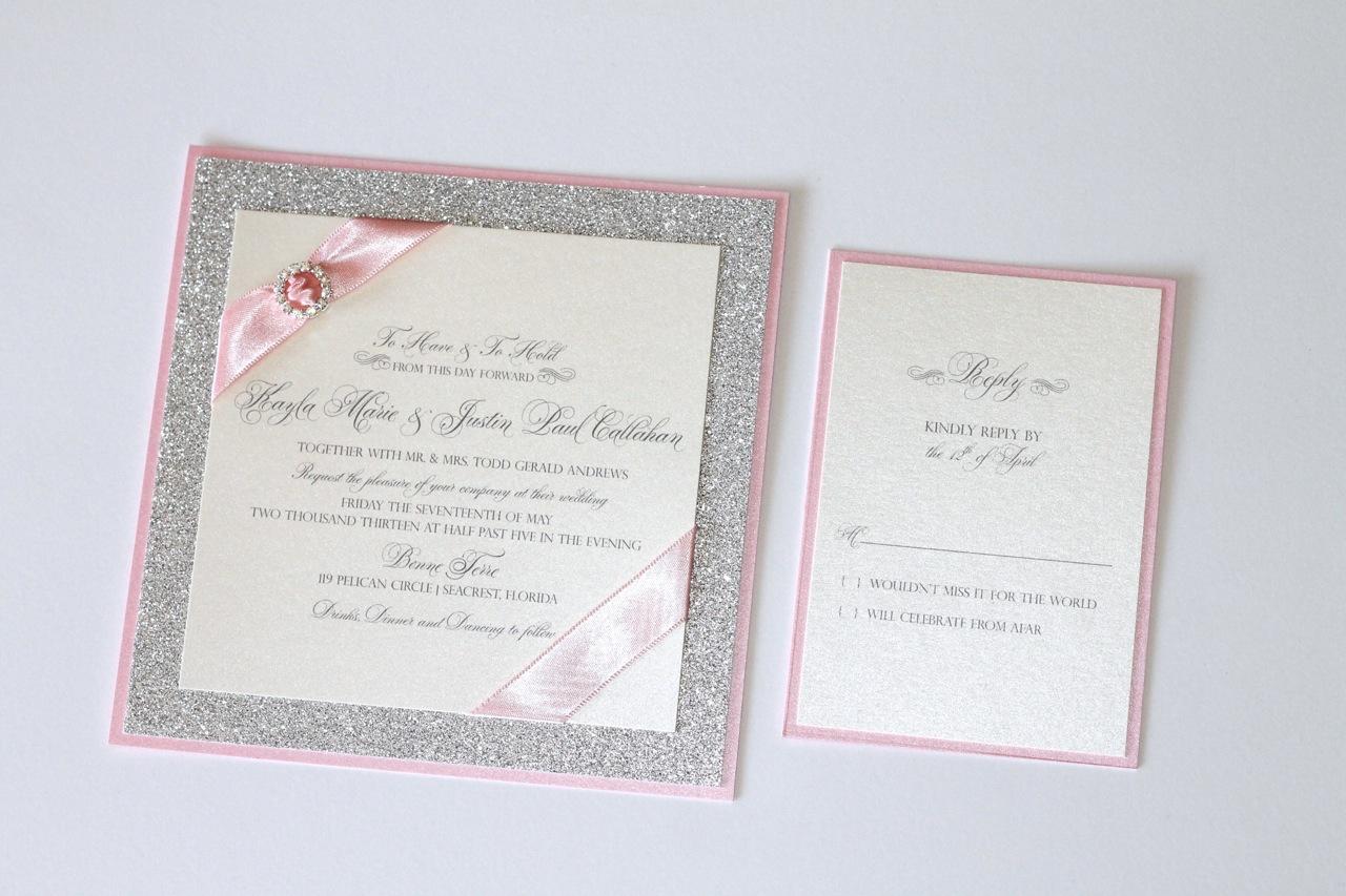 glitter wedding invitations sets - 28 images - glitter wedding ...