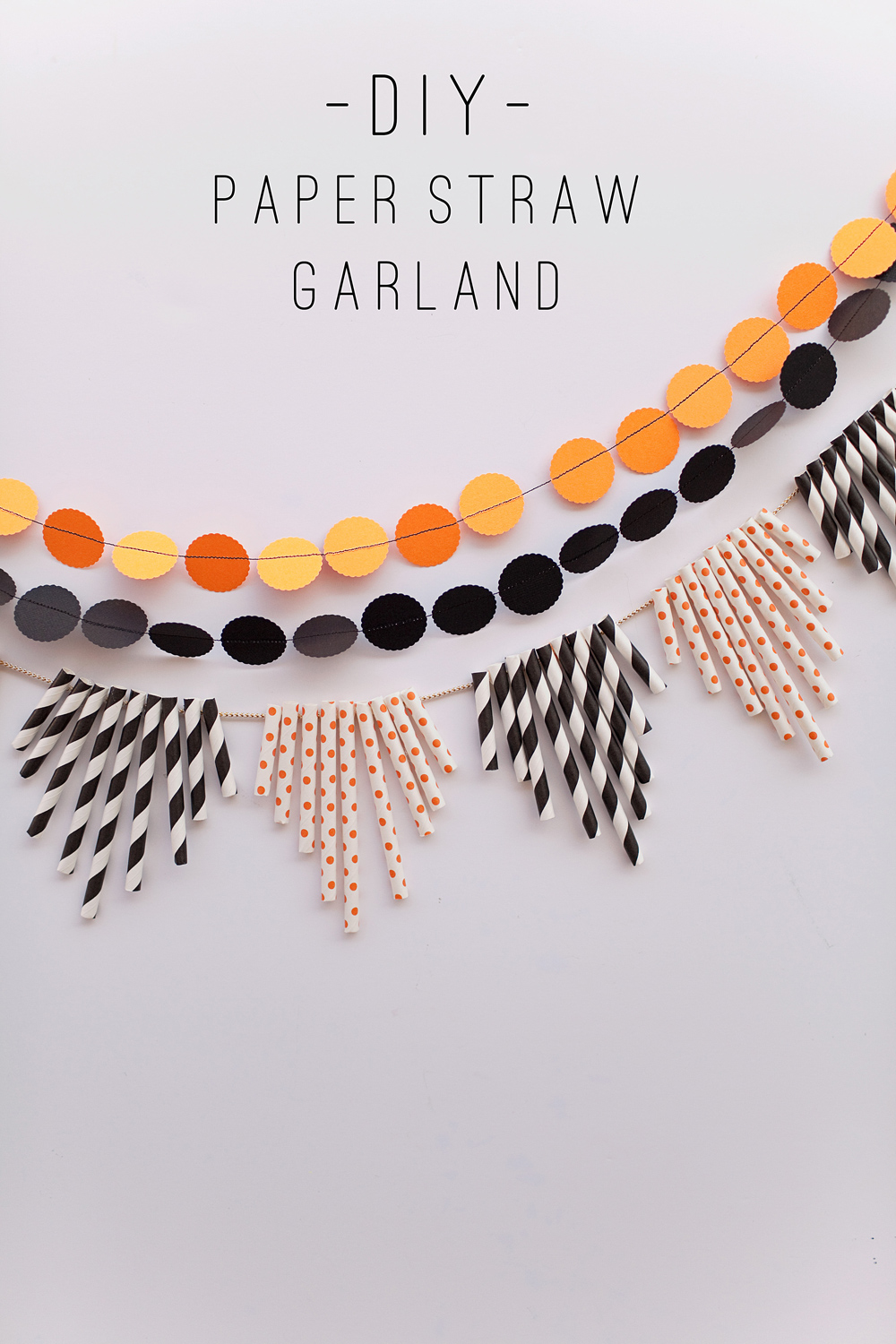 Tell halloween paper straw garland tell love and party for Halloween girlande