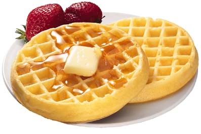 Stock photos and Computer Tricks: Appetizing waffles