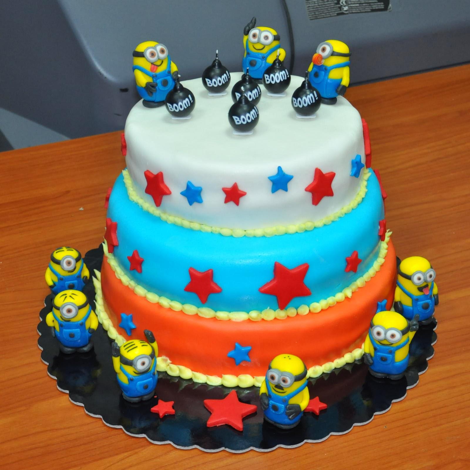 Fabuleux Babbo Pasticcione: Torta di compleanno con i Minions HS99