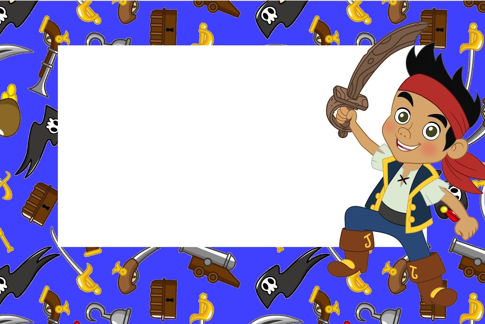Jake e os Piratas da Terra do Nunca - Kit Completo com molduras para convites, rótulos para ...