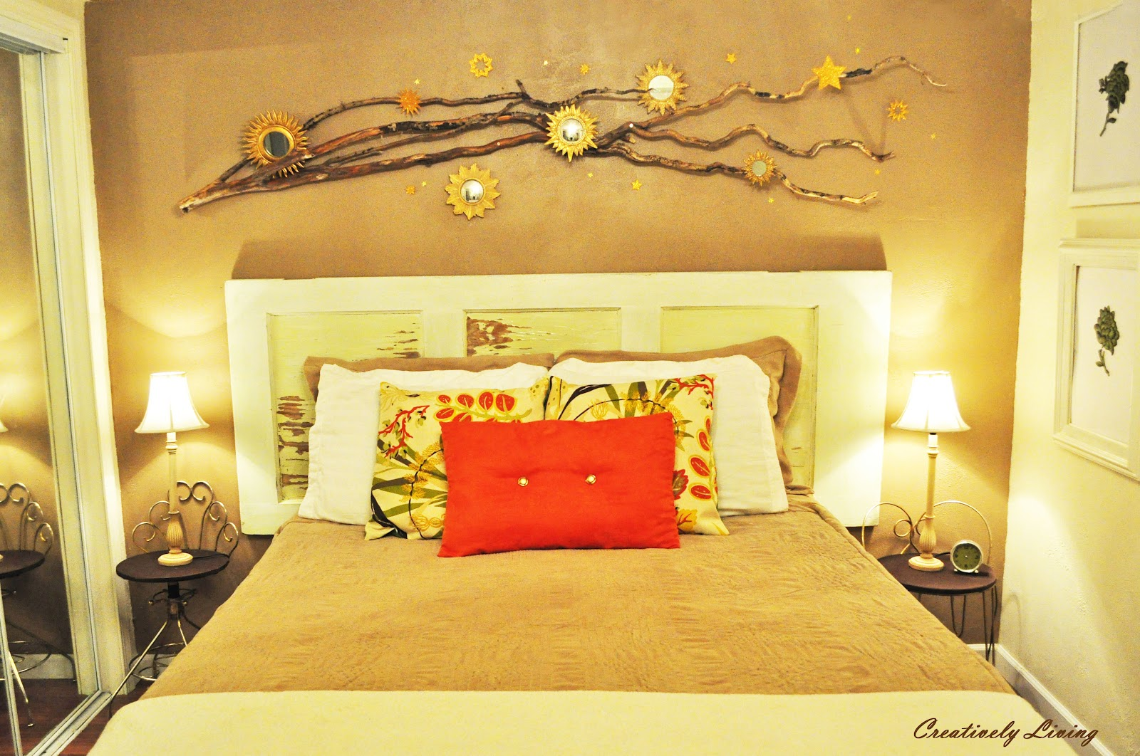 Inexpensive Tips on Bedroom Focal Walls - Creatively Living Blog