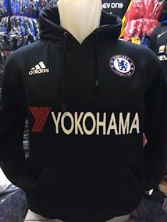 gambar detail jaket hoodie chelsea musim depan Jaket hoodie Sweater Chelsea warna hitam yokohama terbaru musim 2015/2016 di enkosa sport toko online pakaian bola terpercaya