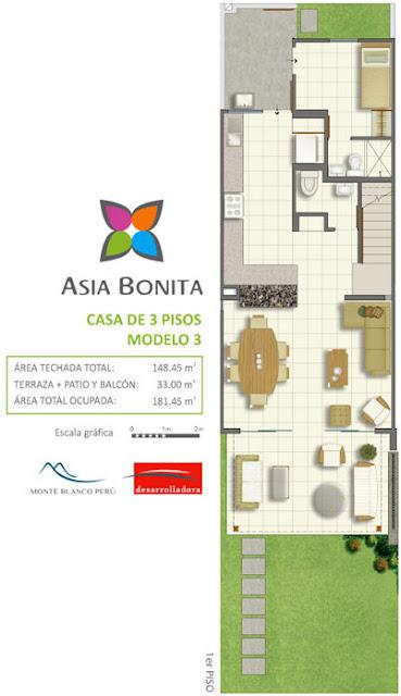CASA DE PLAYA EN ASIA LIMA PERU by planosdecasas.blogspot.com