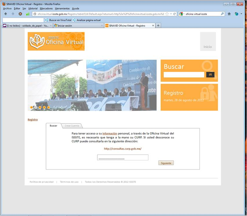 Prestamos del issste virtual for Oficina virtual del issste