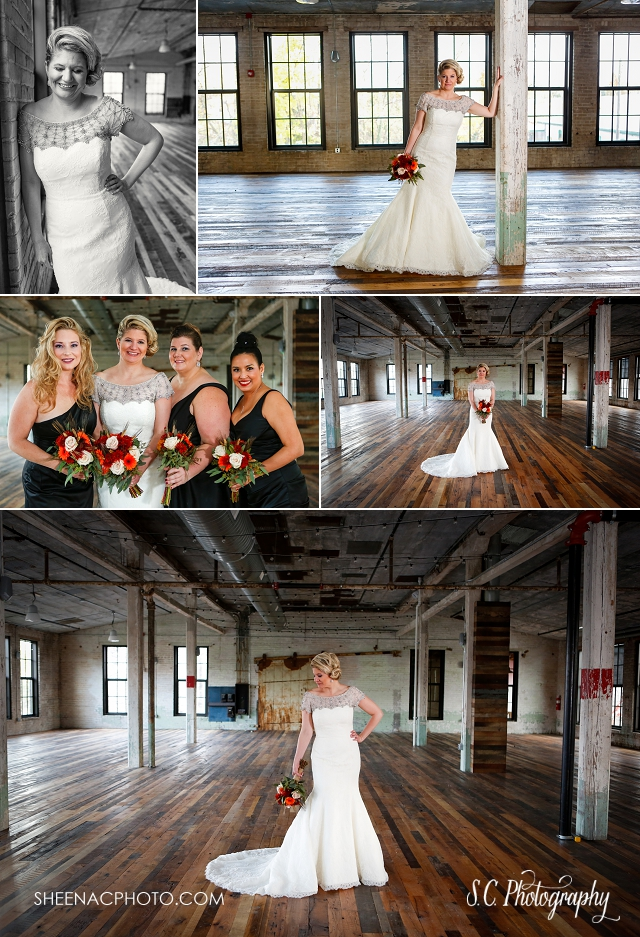 abandoned building wedding photos, journeyman distillary, industrial wedding photographer