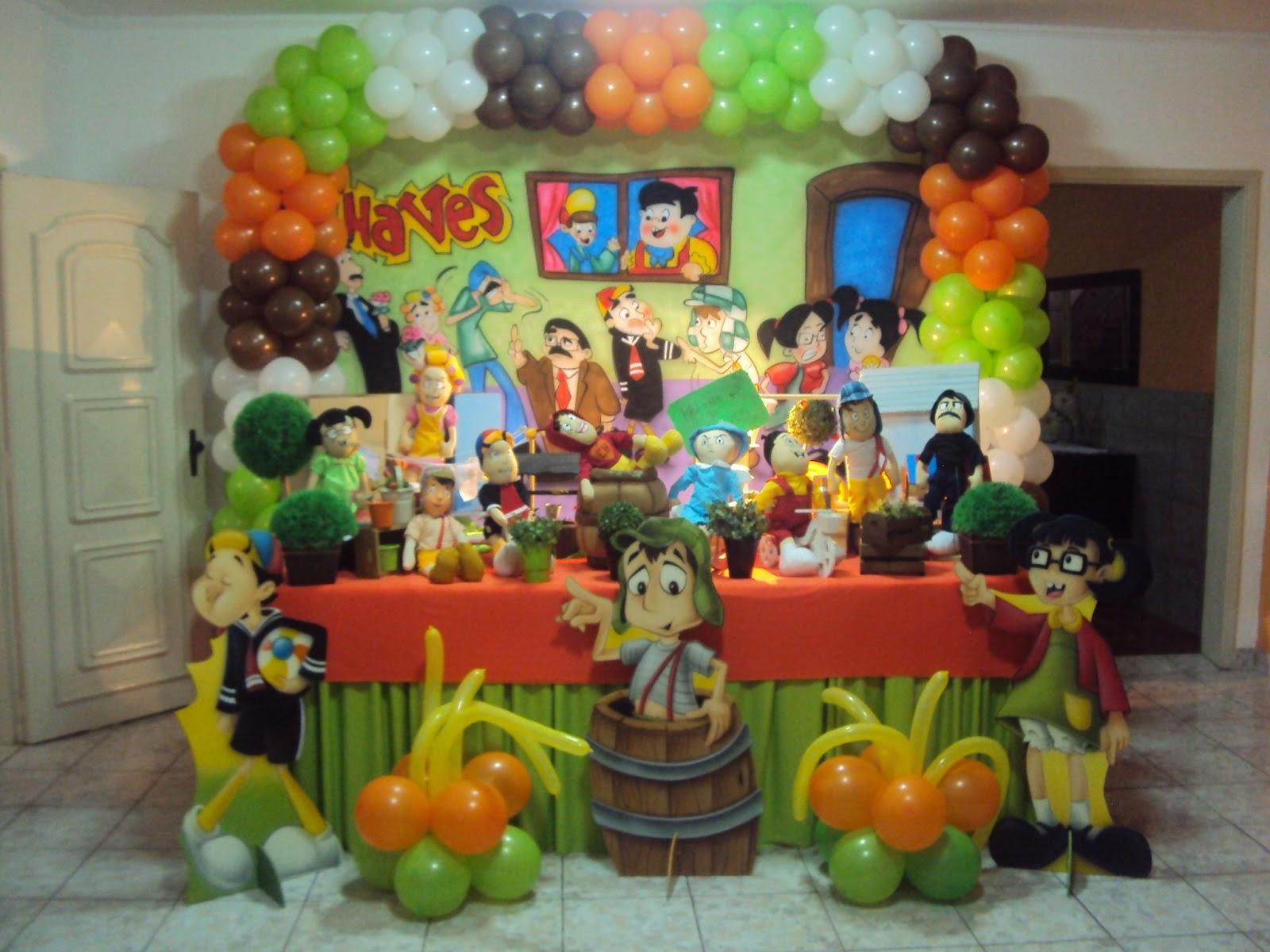 Decorações de Festas Infantis TURMA DO CHAVES ARCO TRADICIONAL