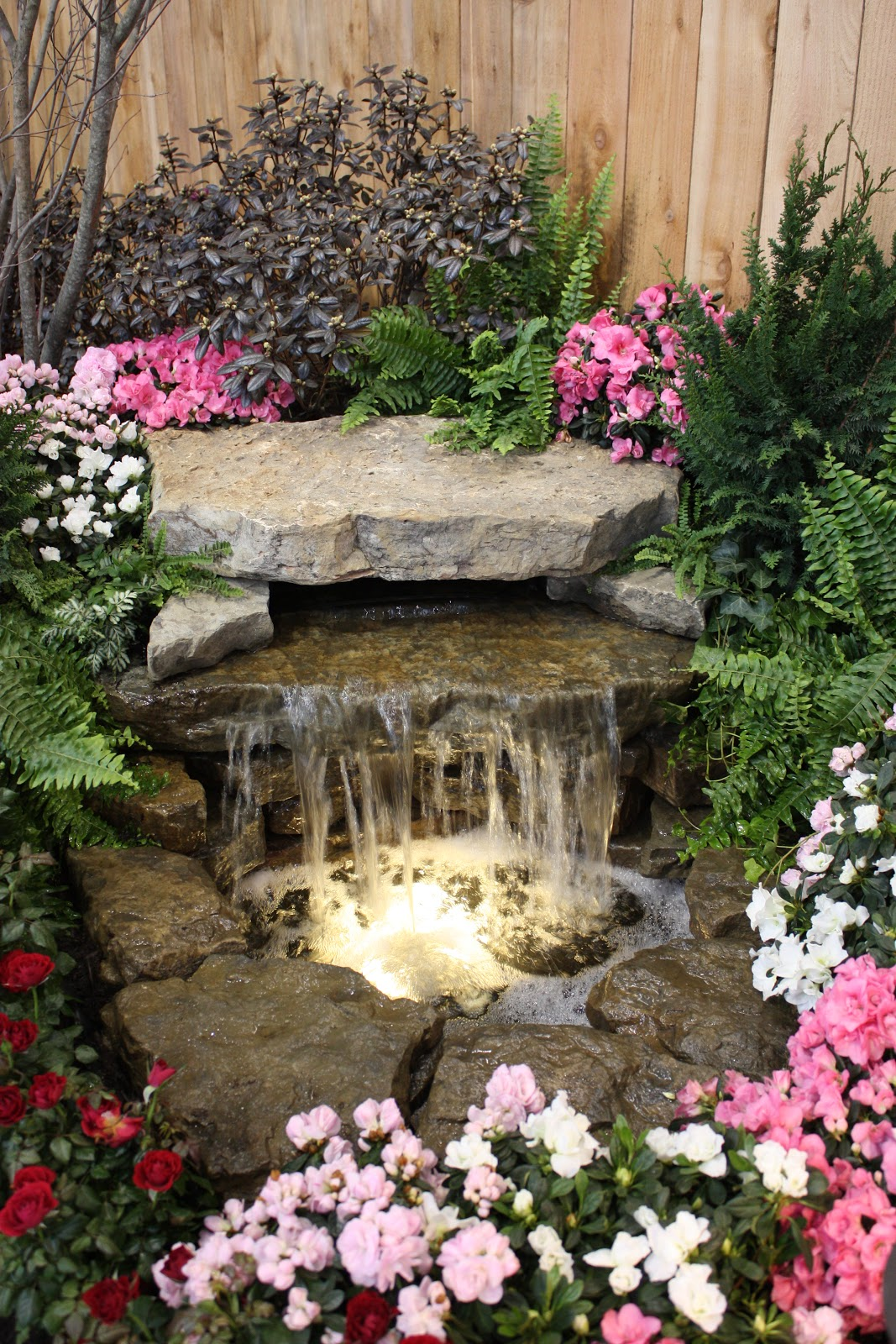 Garden thyme with the creative gardener more great water features for the garden Small backyard waterfalls and ponds