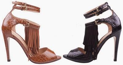 sandálias Luiza Barcelos inverno 2014 cores de franjas preto e castor