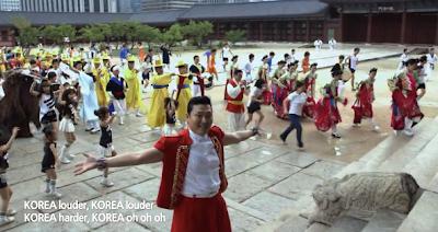 Psy Korea smiling crowd