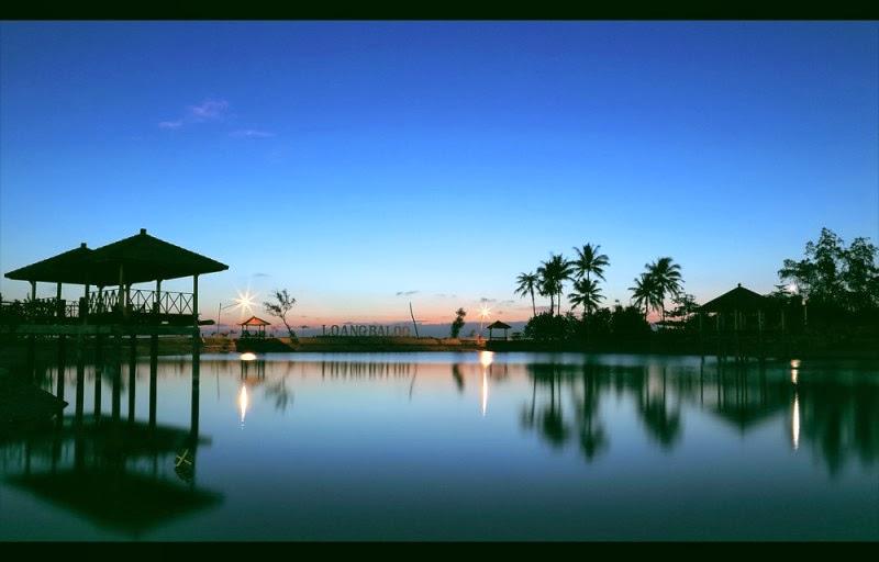 Sunset di Pantai Loang Baloq Ampenan Lombok