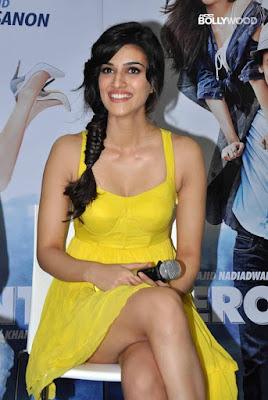 Hot Kriti Sanon in yellow Dress Movie Promotion