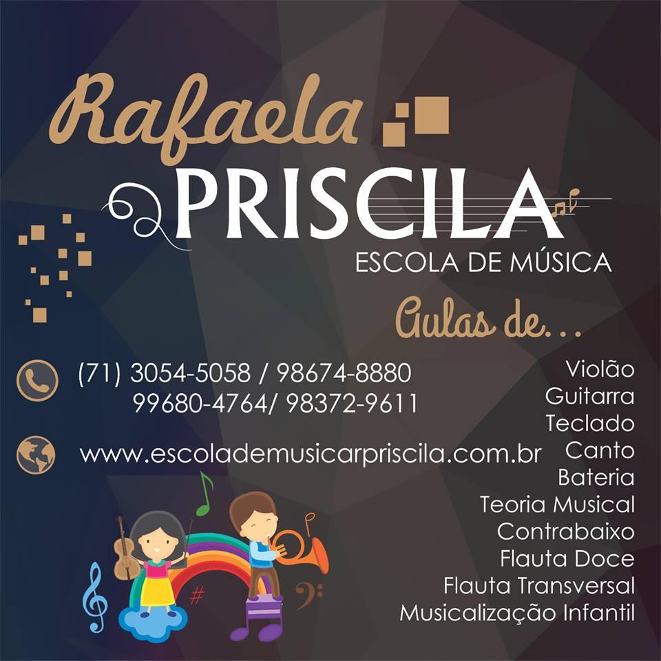 Rafaela Priscila escola de música