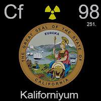 Kaliforniyum Elementi Simgesi Cf