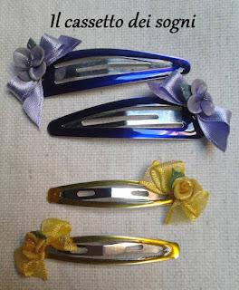 Mollette per capelli Mollette+viola-giallo