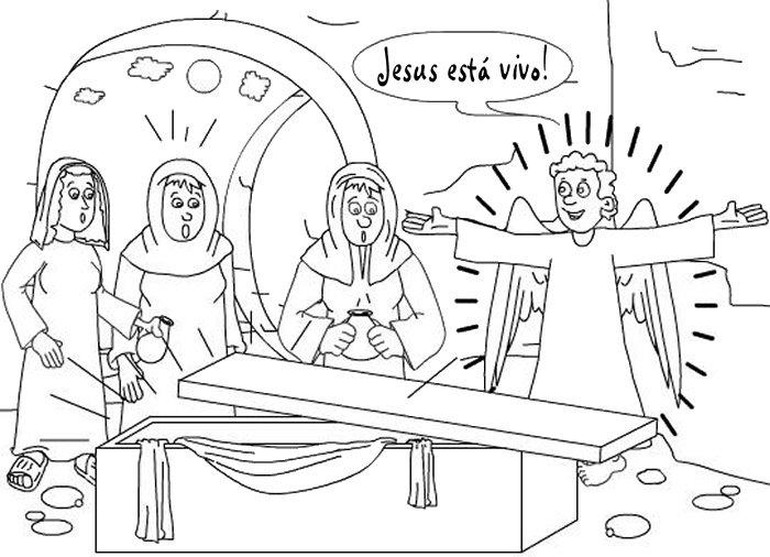 Desenho para Colorir Páscoa Evangélico