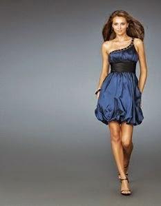 vestido de festa azul balonê - modelos e fotos