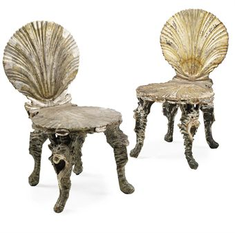 Merveilleux You Can Find These Wonderful U0027grottou0027 Chairs At Auction. This Pair Sold At  A Christies Auction In London. These Are Venetian Painted And Parcel Gilt  Chairs, ...